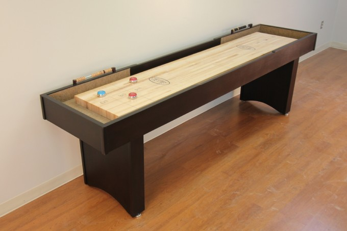 Wooden Traditional Game Shuffleboard Table For Sale