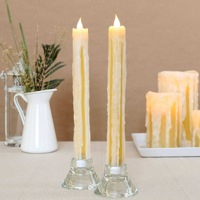 11 Inch Flameless Candles With Timer For Home Decoration Ideas