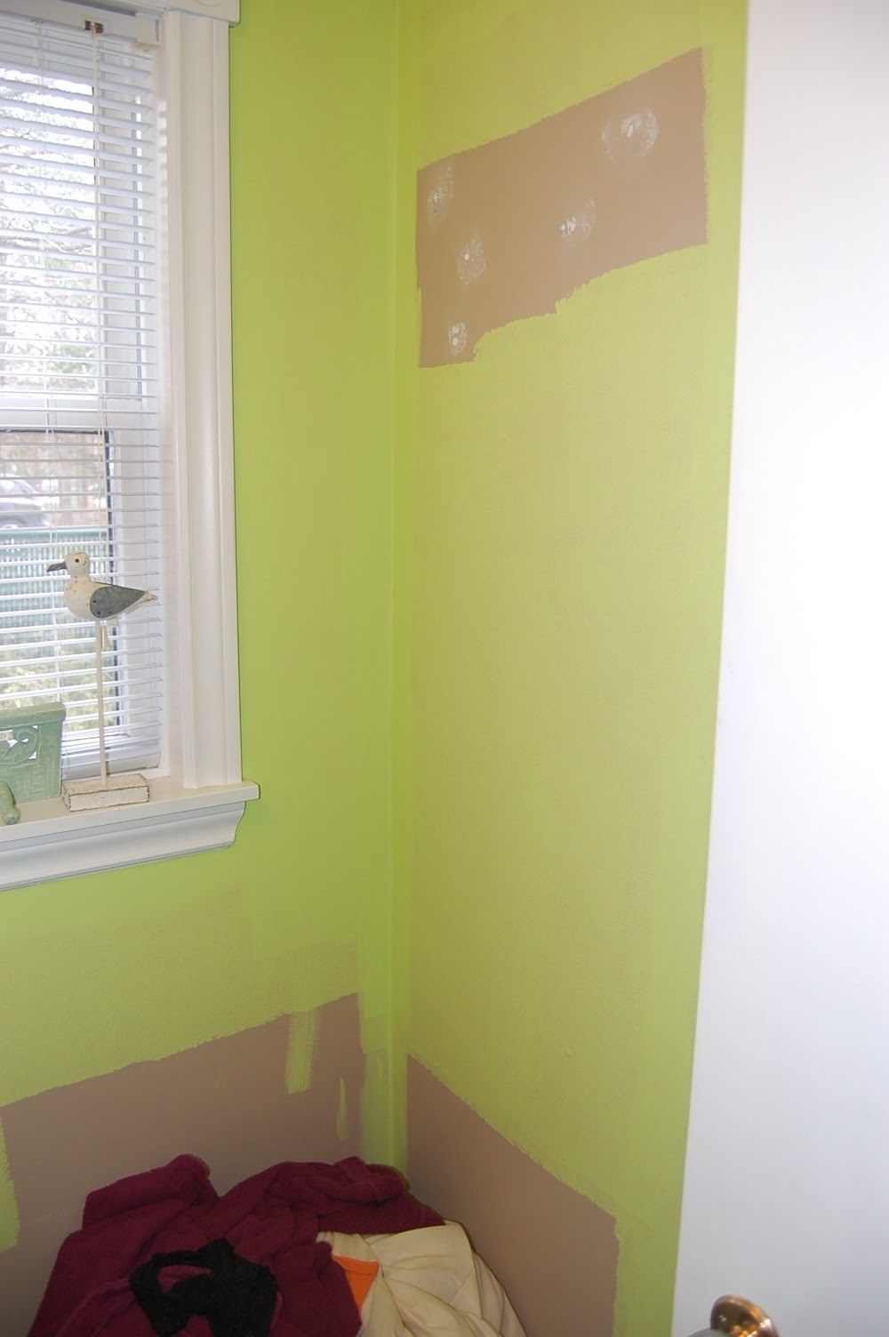 a green wall needs addition decor which is Wall Doctor Beadboard Wallpaper to get prettier look