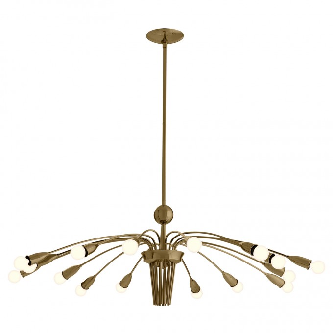 Amazing Chandelier In Golden Color By Arteriors Lighting For Home Lighting