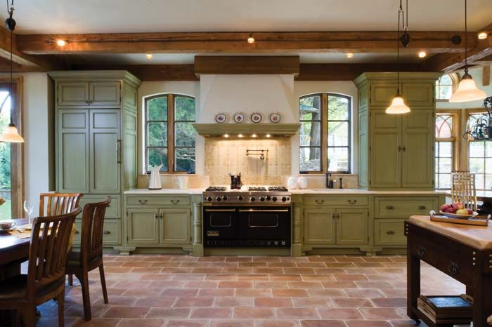 amazing wooden kitchen bertch cabinets with granite countertop and stove for kitchen decor ideas