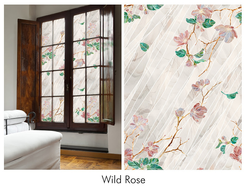 Awesome Artscape Window Film With Floral Motif Design For Window Decor Ideas