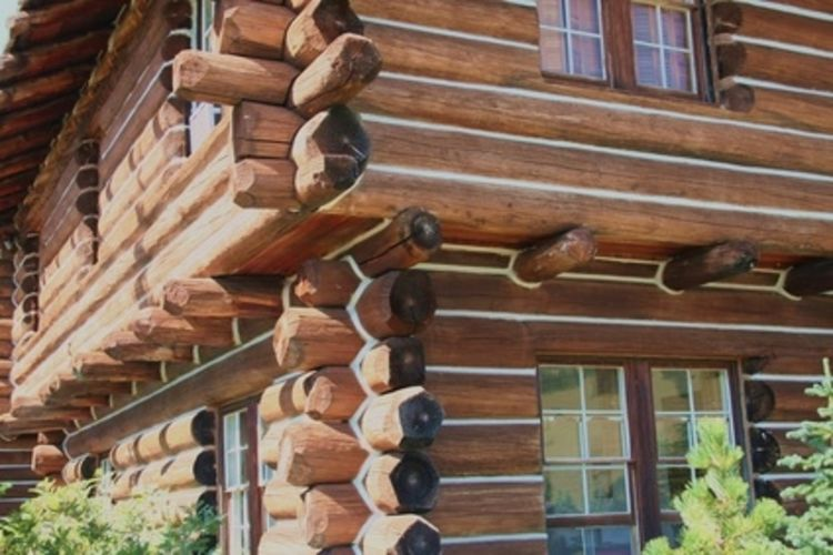 awesome exterior design of Southland Log Homes with double hung windows and white list ideas