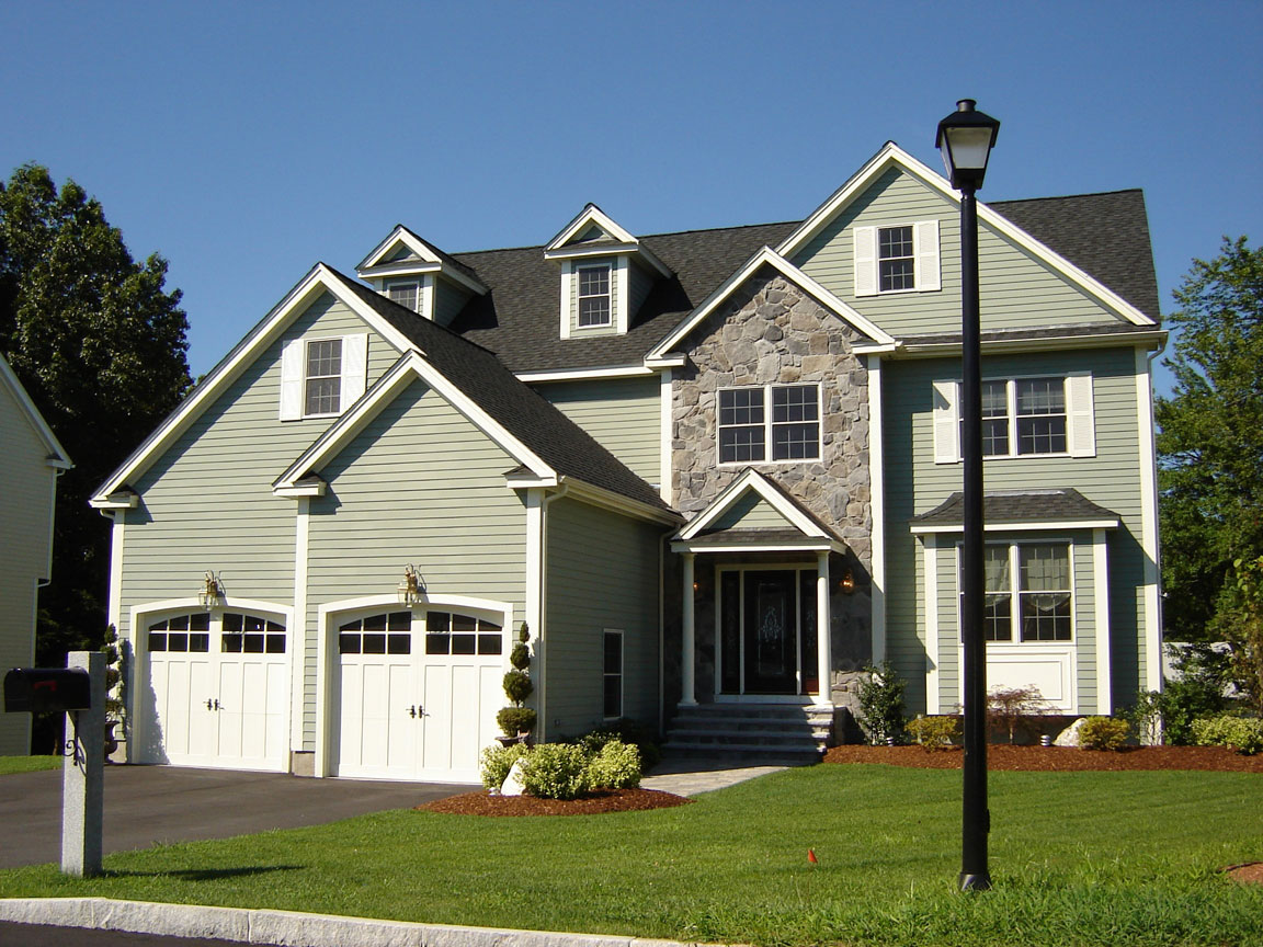 awesome home exterior design with hardie plank siding in darkkhaki and white trim board plus white door ideas