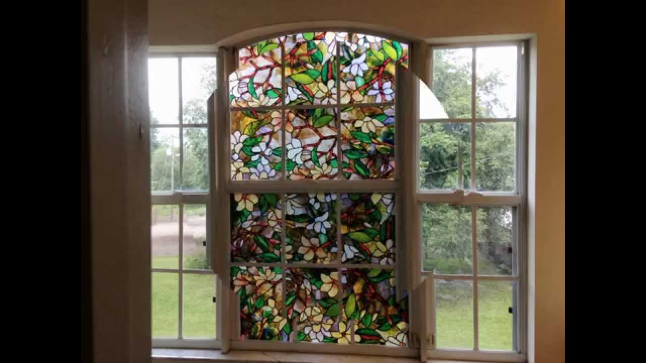 awesome window with artscape window film in floral motif design for home decor ideas