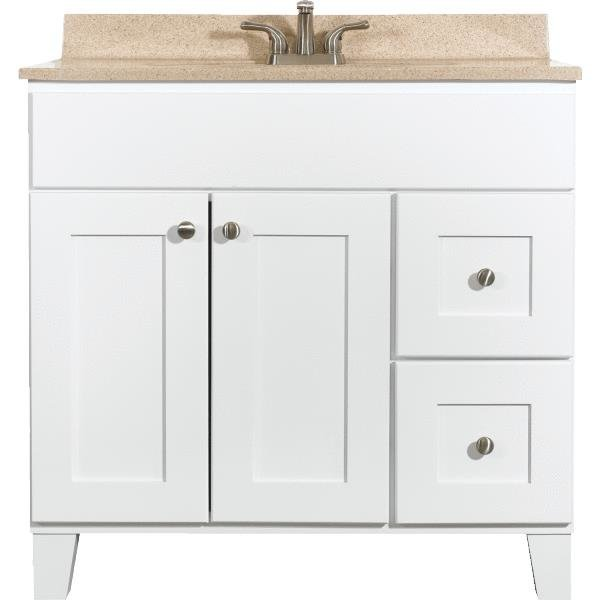 awesome wooden bathroom bertch cabinets in white with granite countertop and sink plus faucet for bathroom furniture ideas