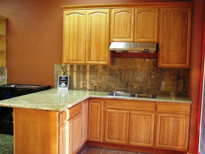 Awesome Wooden Kitchen Bertch Cabinets With Granite Countertop And Sink With Double Bowl For Kitchen Decor Ideas