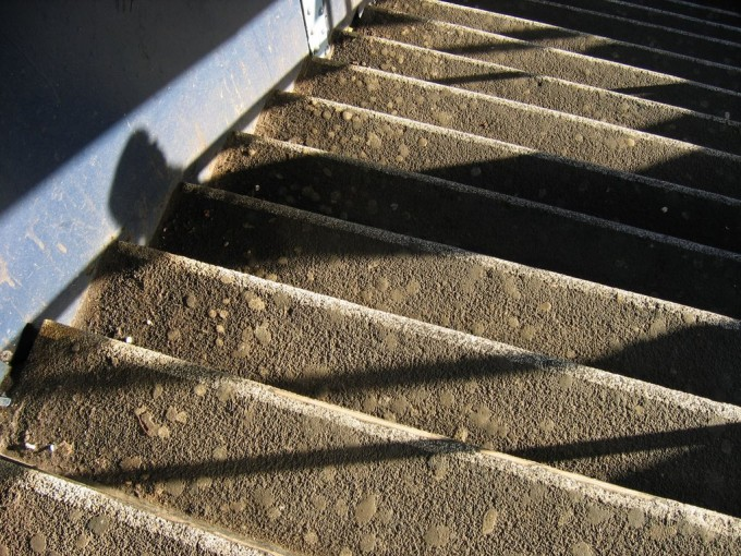 Cement Stair With Non Slip Stair Treads For Safety Stair Ideas