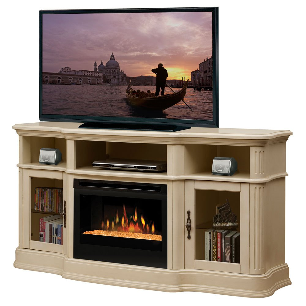 charming black dimplex electric fireplaces on white dresser with tv for family room ideas