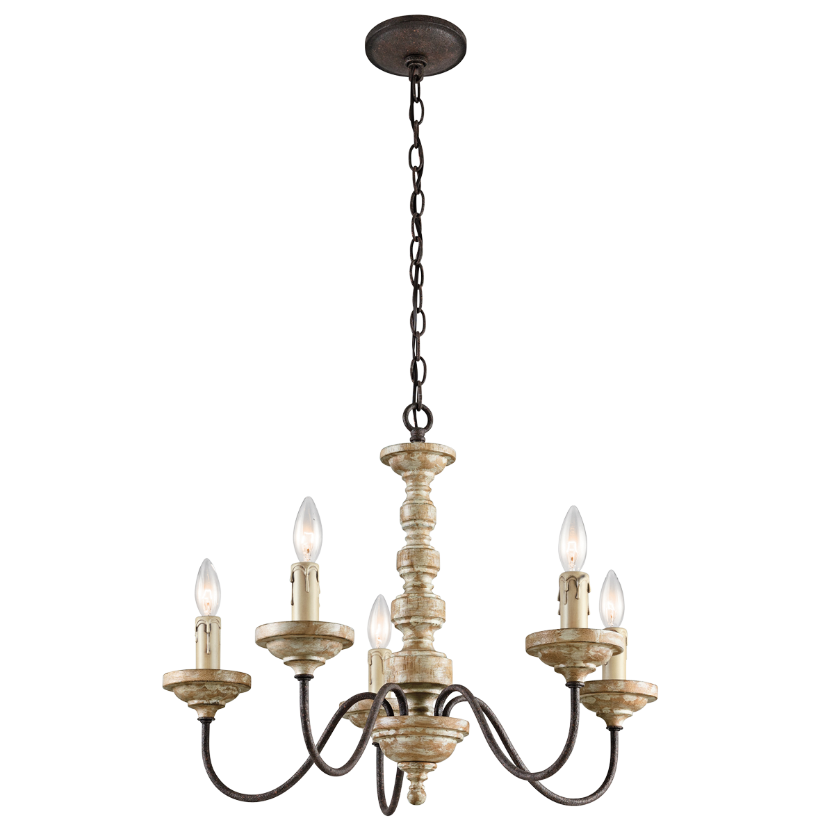 Charming Briellis 5 Light Chandelier Vintage Weathered Wh By Cardello Lighting And Decor For Home Ideas