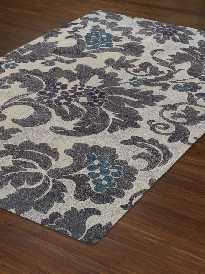 Charming Brown Floral Rug By Dalyn Rugs For Floor Decor Ideas