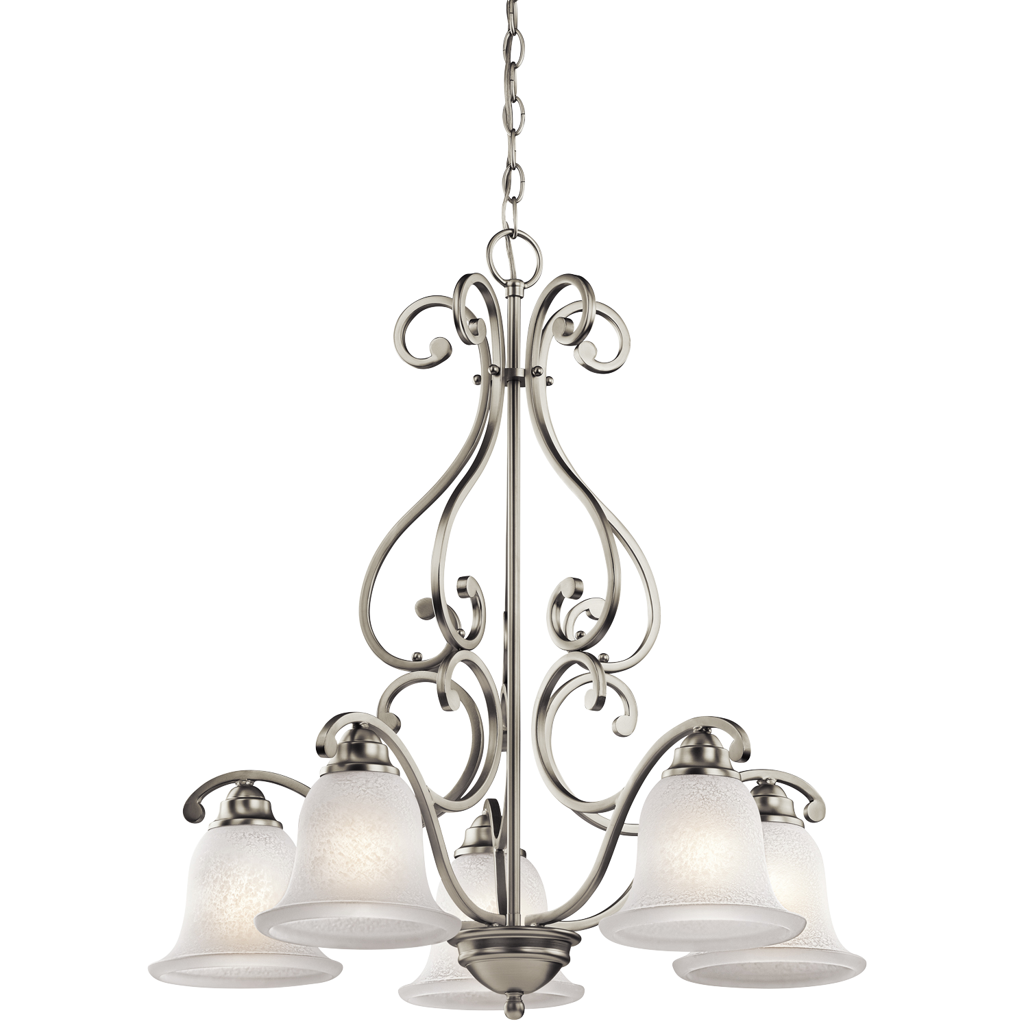 Charming Camerena 5 Light 1 Tier Chandelier Brushed Nickel By Cardello Lighting And Decor For Home Ideas