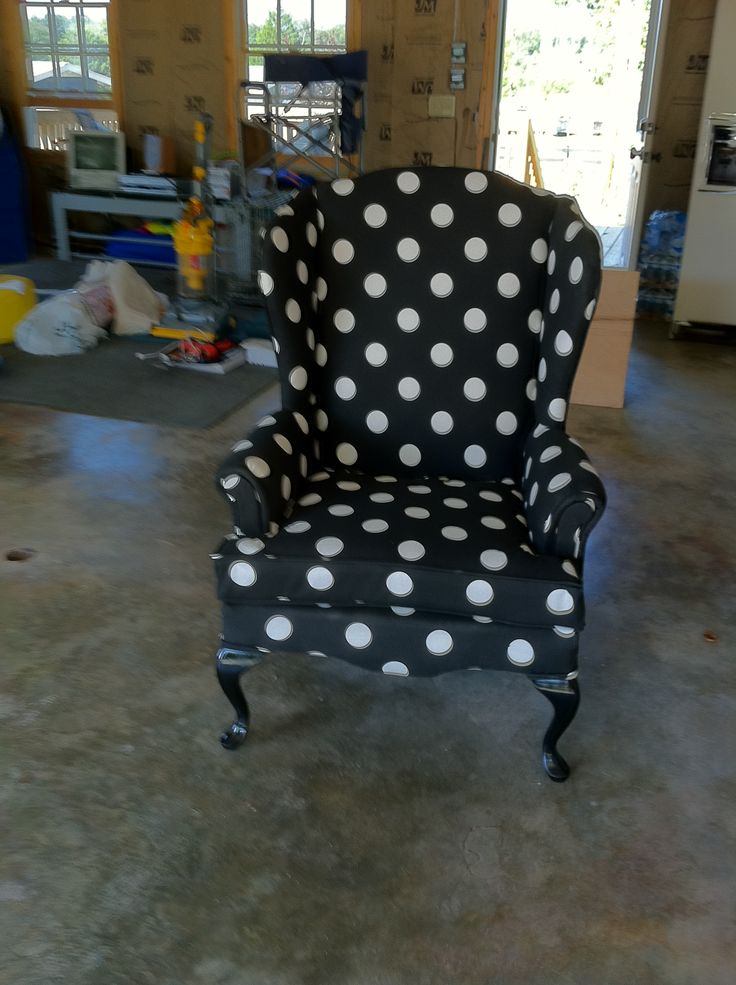 charming chair with black and dotted wingback chair slipcover for home furniture ideas