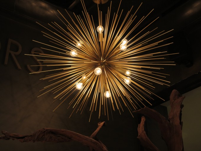 Charming Chandelier In Sunburst Design By Arteriors Lighting For Home Lighting Ideas