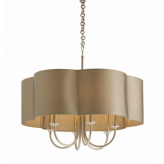 Charming Chandelier With Beige Shade By Arteriors Lighting For Home Lighting Ideas