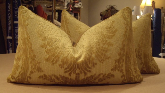 Charming Cowtan And Tout Cushion Cover In Golden Color And Cute Textured Motif For Home Accessories Ideas