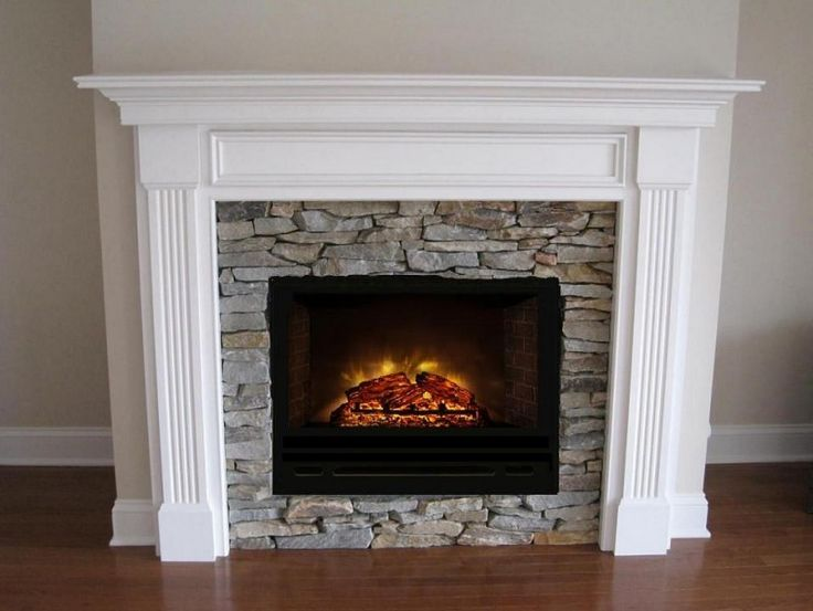 Charming Dimplex Electric Fireplaces Before The White Wall Matched With Wooden Floor For Family Room Decor Ideas