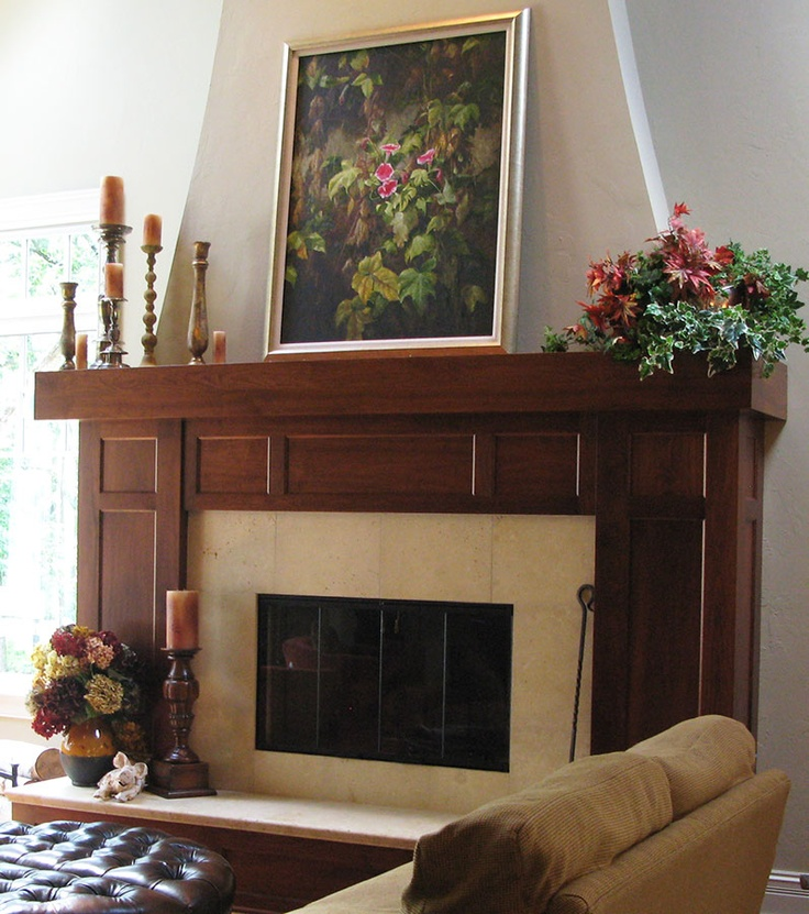 charming fire place with wooden mantel kit using minwax gel stain before the white wall for home interior design ideas