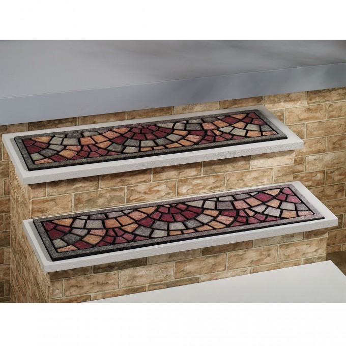 Charming Mosaic Non Slip Stair Treads For Stair Care Step Ideas