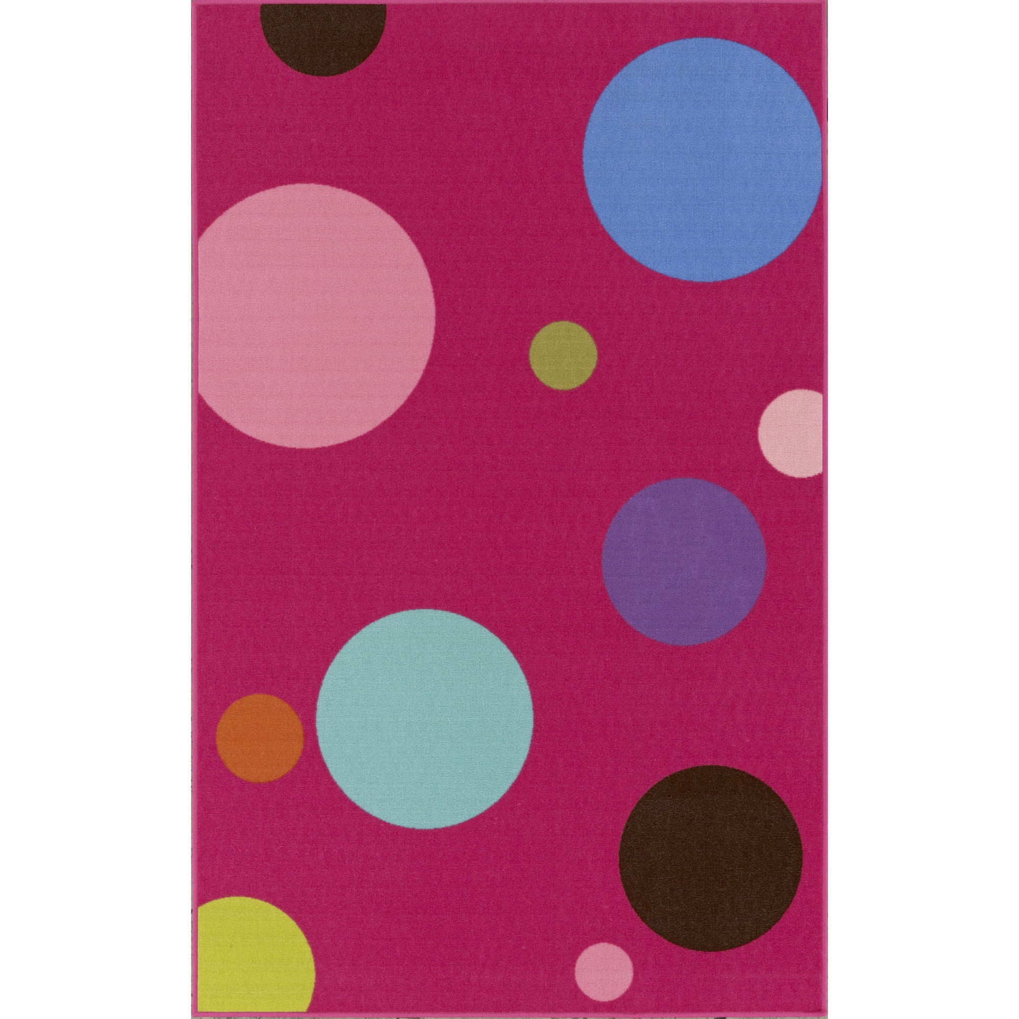Charming Pink Dalyn Rugs With Dotted Motif For Floor Decor Ideas
