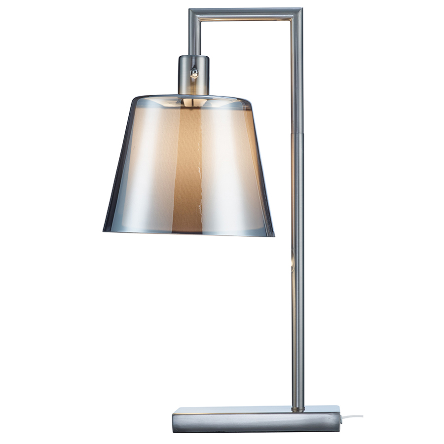 charming Presley Table Lamp by eurway furniture with Brushed steel body and Smoked mercury glass outer shade for home furniture ideas