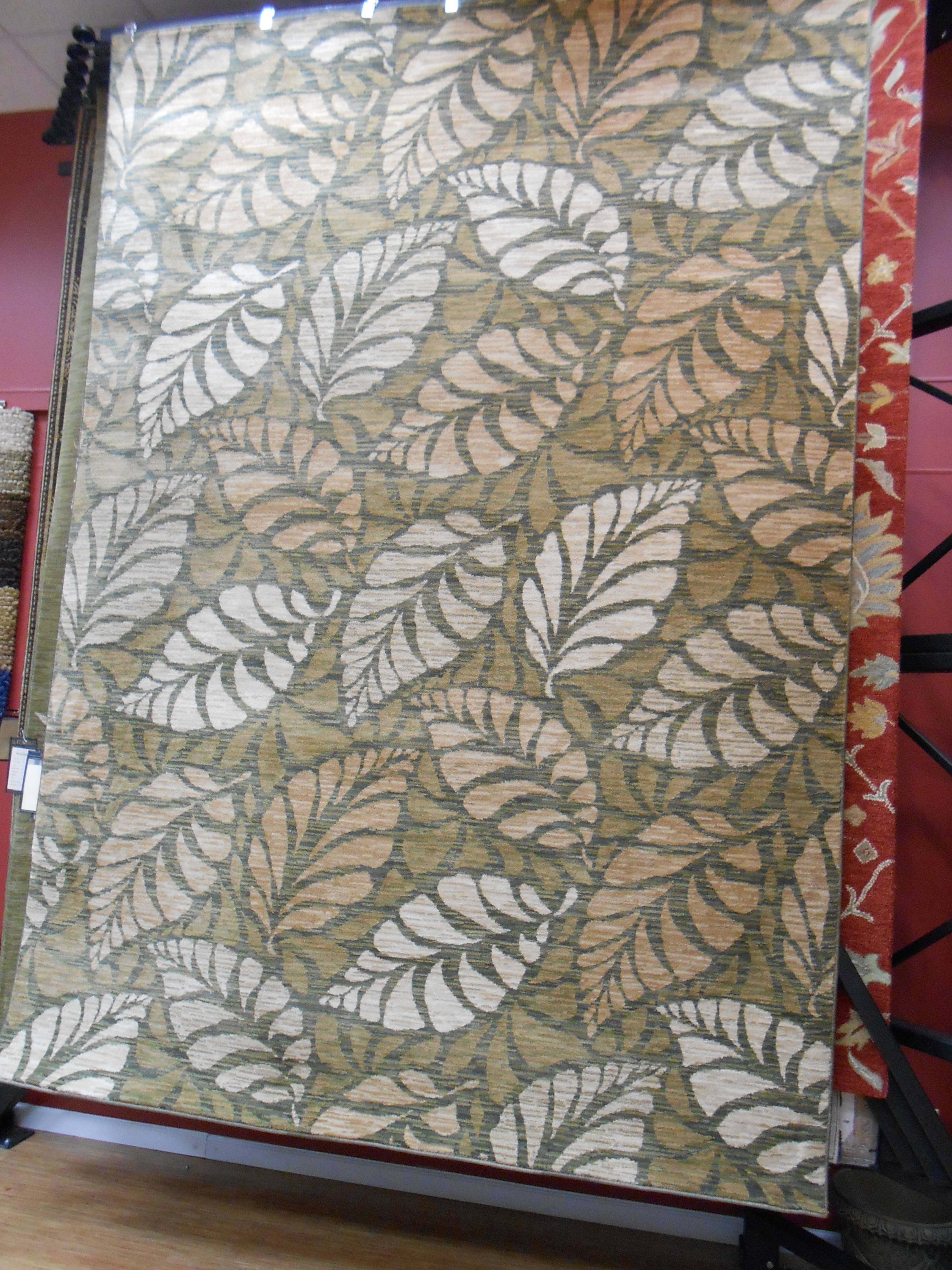 charming rectangle dalyn rugs with leaves motif for floor decor ideas