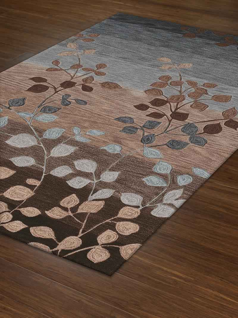 charming rectangle stripped and leaves motif dalyn rugs for floor decor ideas