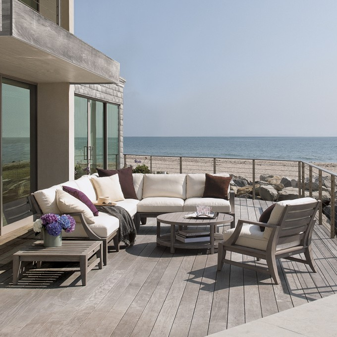 Charming Sofa Set With White Cushion Seat And Round And Square Table By Janus Et Cie Outdoor Furniture For Outdoor Furniture Ideas