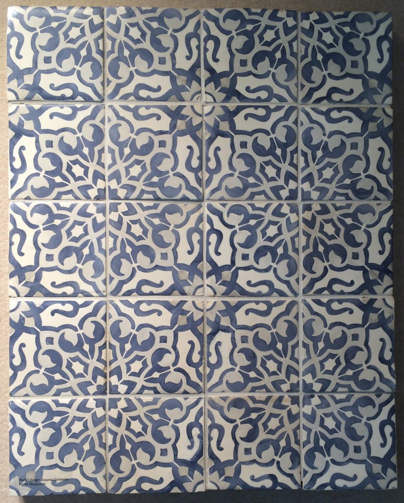 charming tile with floral motif by Walker Zanger for wall decor ideas