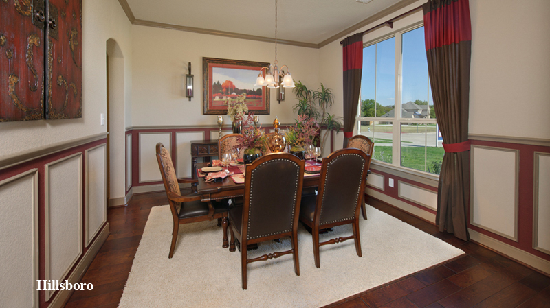charming tilson homes dining room design with wooden dining table and chair set in six on wooden floor with white rug plus chandelier ideas