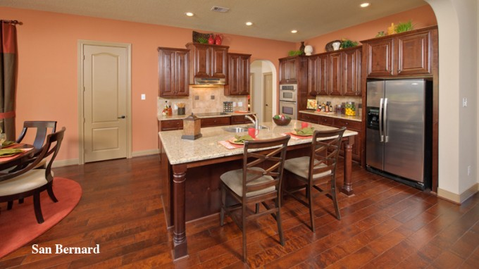 Charming Tilson Homes Kitchen Design With Kitchen Island And Counter Stool On Wooden Floor Ideas