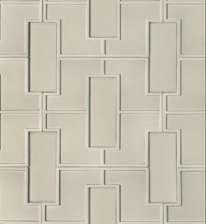 charming white tile with decorative design by Walker Zanger for wall decor ideas