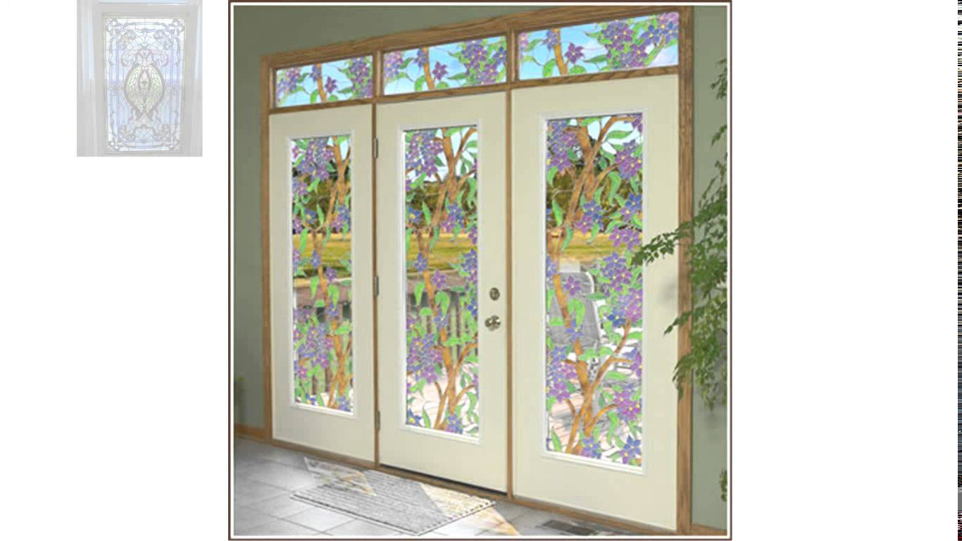 charming window with artscape window film and matching door for home decor ideas