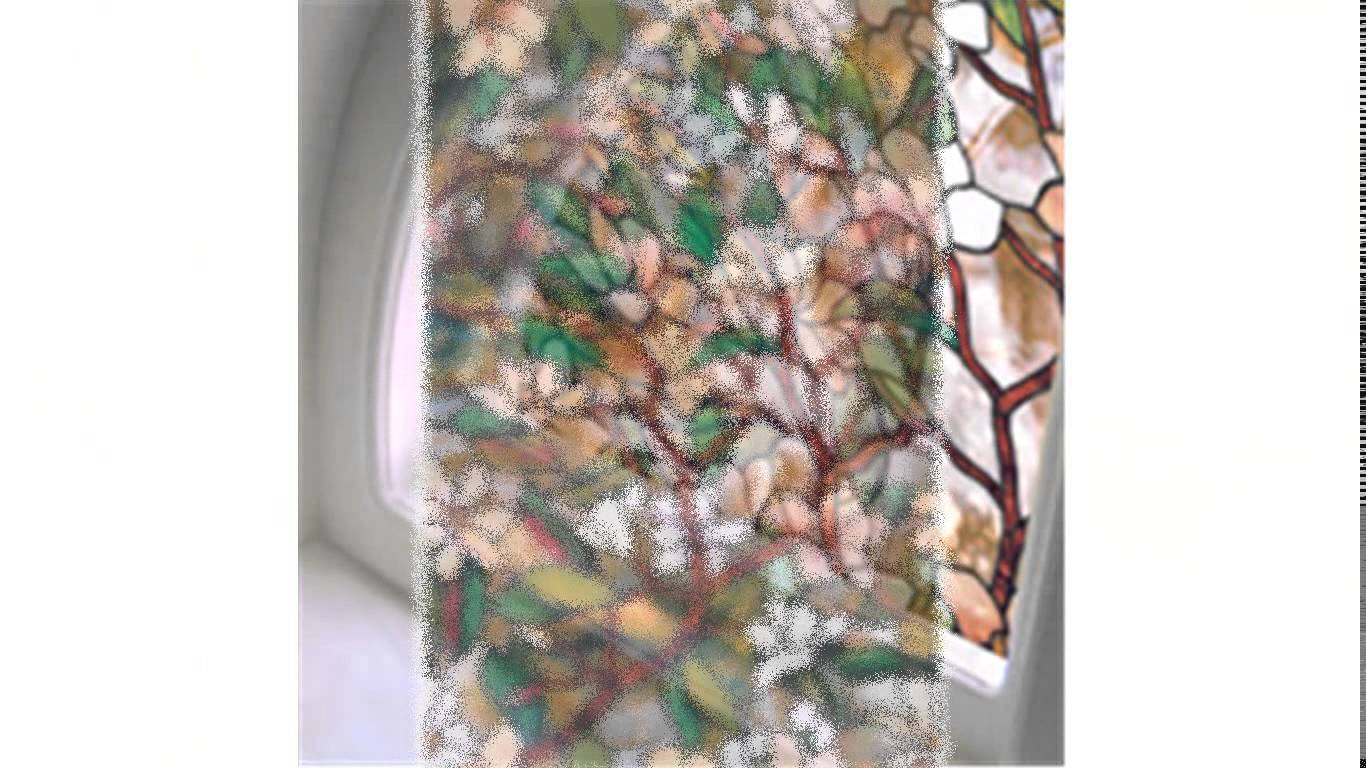chic artscape window film with floral motif design for window decor ideas