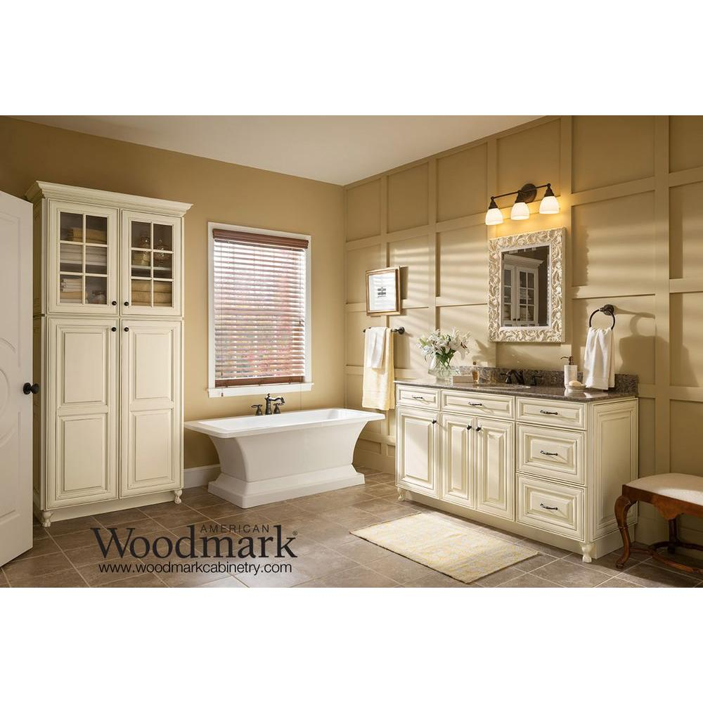 chic bathroom american woodmark cabinets in white with granite top and sink plus faucet for bathroom furniture ideas