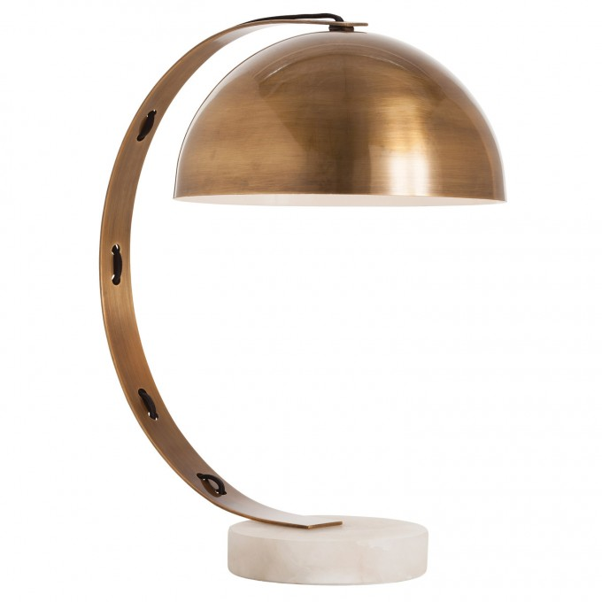 Chic Bond Vintage Brass/Snow Marble Desk Lamp By Arteriors Lighting For Home Decoration Ideas