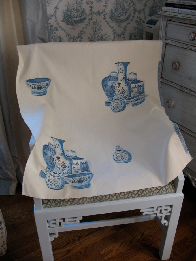 Chic Cowtan And Tout Chinoiserie For Recliner Cover Ideas