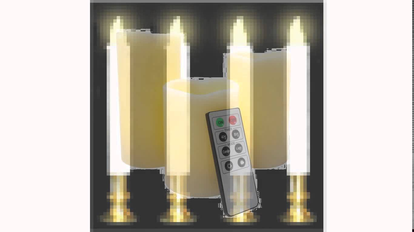chic flameless candles with timer for home decoration ideas