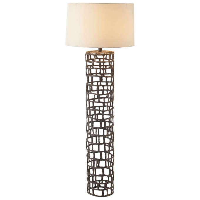 Chic Floor Lamps With White Shade And Decorative Body By Arteriors Lighting For Home Ideas