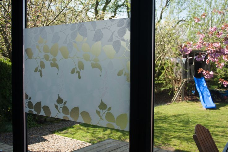 chic glass window using leaf artscape window film ideas