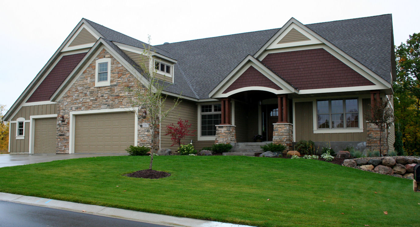 chic horizontal hardie plank siding with white trim board and glass window for home exterior design ideas