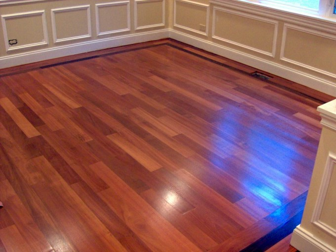 Chic Konecto Flooring Matched With Decorative Wainscoting For Home Interior Design Ideas