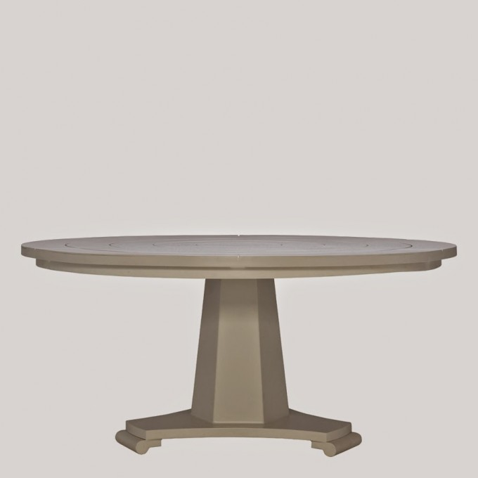 Chic Round Wooden Table In Beige By Janus Et Cie Outdoor Furniture For Outdoor Furniture Ideas
