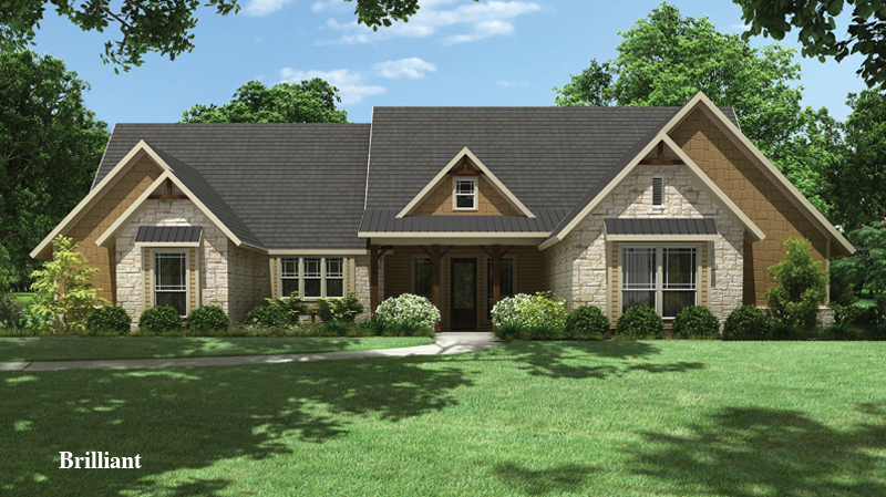 chic tilson homes exterior design using gray roof and natural stone siding with single hung window ideas