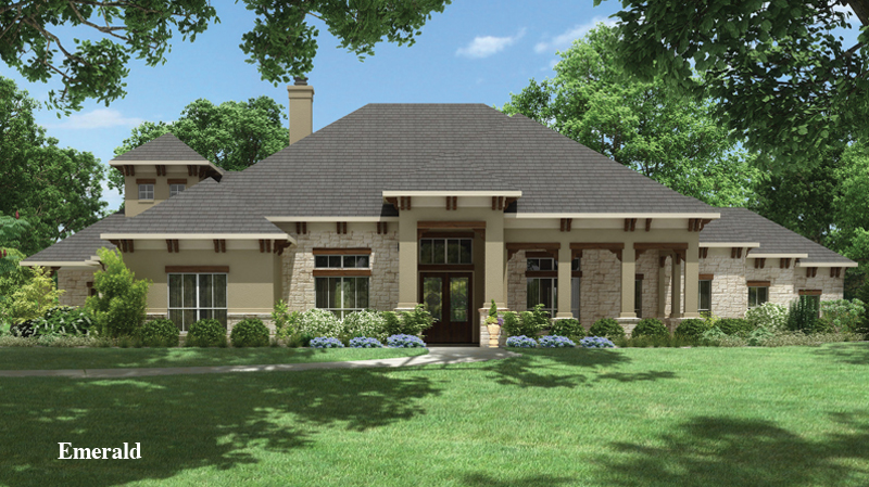 chic tilson homes exterior design using gray roof with natural stone siding and poles plus wooden door with film ideas