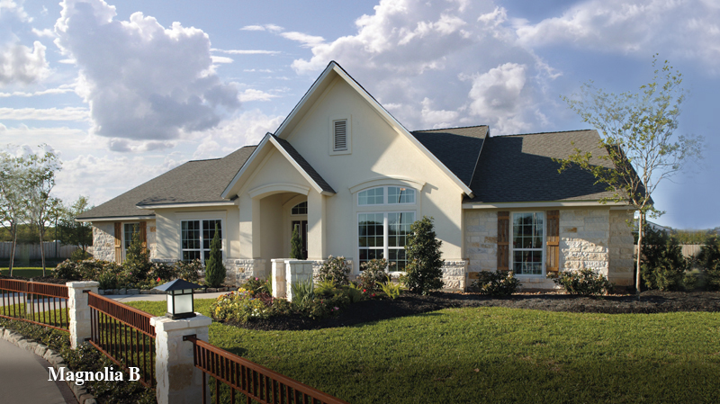 chic tilson homes exterior design using white siding matched with dark roof and glass window and door ideas