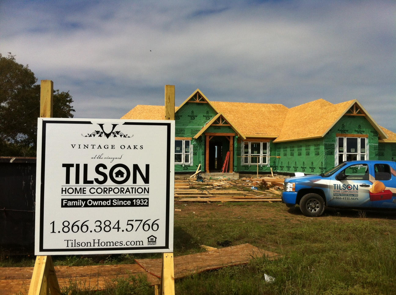 chic tilson homes in progress