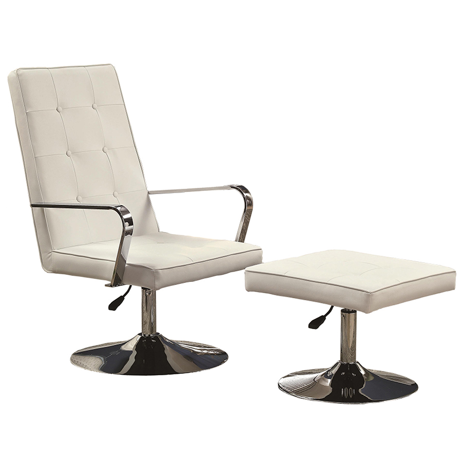 chic Vancouver Lounge Chair and Ottoman in white by eurway furniture for home furniture ideas