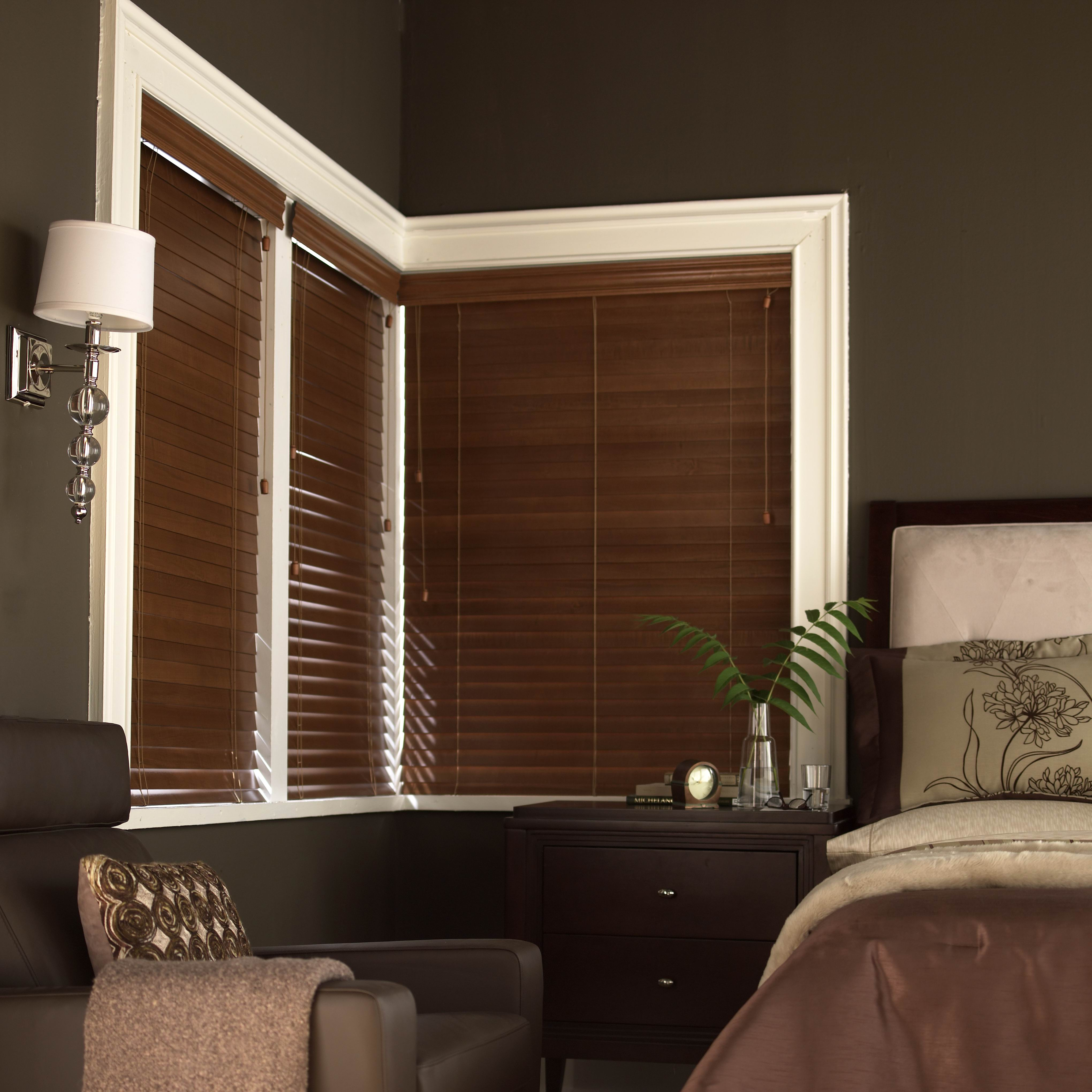 Chic Window With Trim Board And Levolor Cellular Shades On Dark Olive Wall With Light For Home Interior Design Ideas