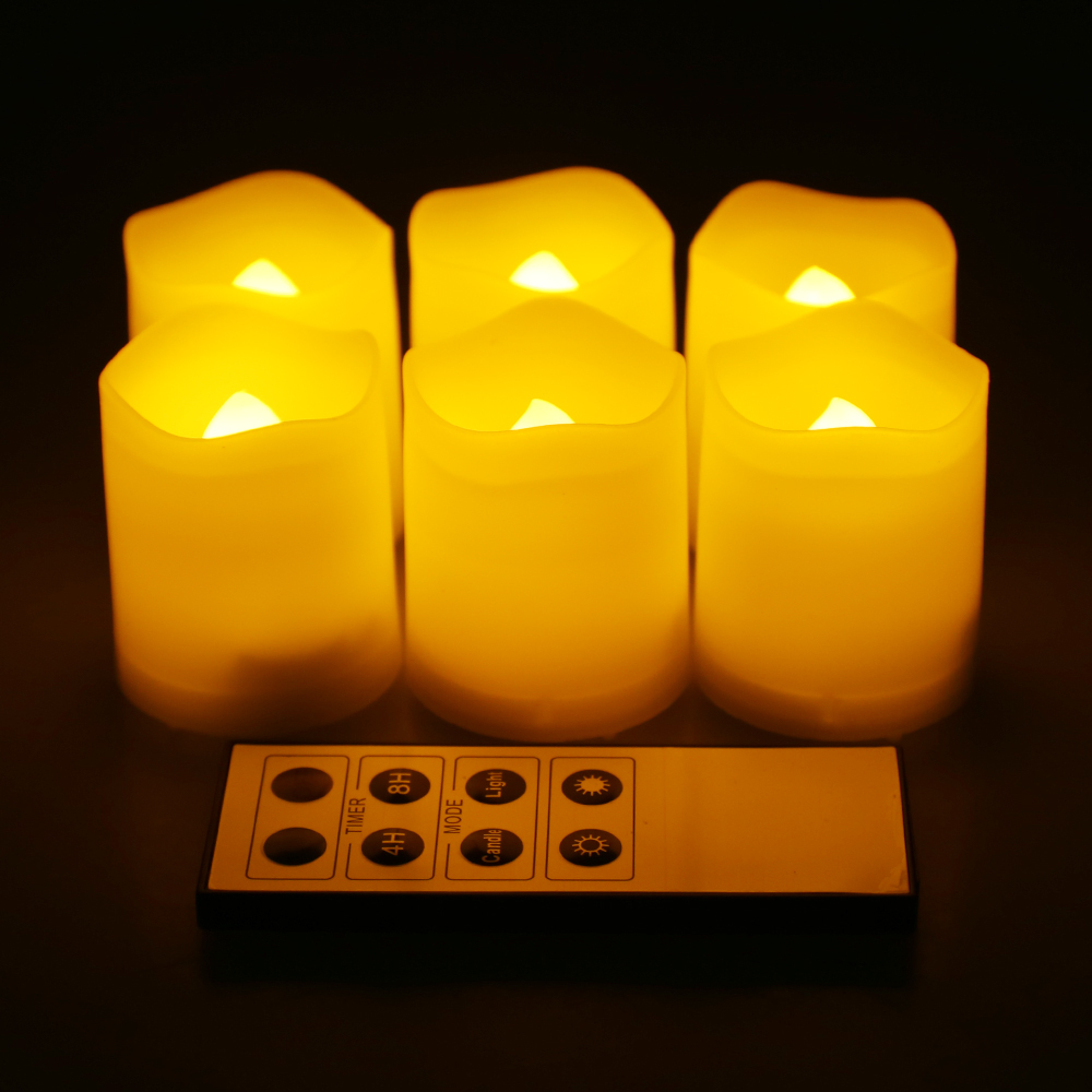 Christmas Decoration 6 pcs flameless candles with timer ideas